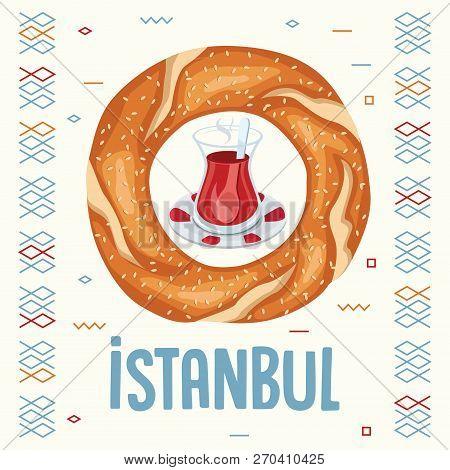 Vector Illustration Of Turkish Bagel