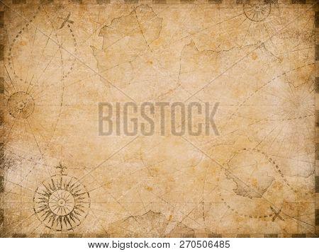 old nautical treasure map background
