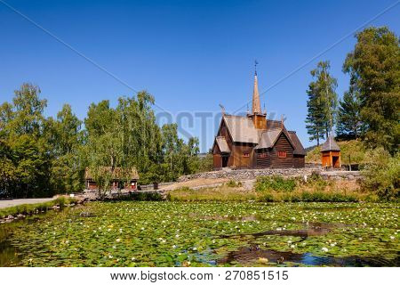 Reconstructed wooden Garmo Stave Church