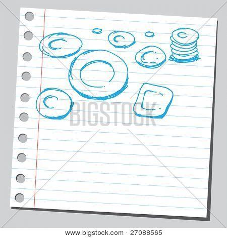 Постер, плакат: Каракули блюда, холст на подрамнике