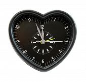 Clock black heart