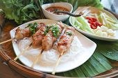 Barbecued Pork With Noodle Or Vietnamese Barbecued And Vermicelli poster