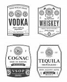 Alcoholic Drinks Vintage Labels poster
