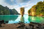 James Bond Island, Phuket Thailand Nature. Asia Travel Photography Of James Bond Island In Phang Nga poster