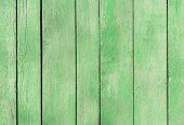 Yellow Green Craiola, Pistachio Old Wooden Fence. Wood Palisade Background. Planks Texture, Weathere poster