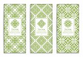 Luxury Green Packaging Design Of Chocolate Bars. Vintage Vector Ornament Template. Elegant, Classic  poster