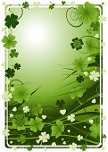 foto of four leaf clover  - design for St - JPG