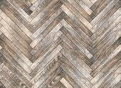 Parquet Herringbone Bleached Oak Seamless Floor Texture poster