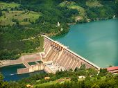 foto of hydroelectric  - hydroelectric power station - JPG