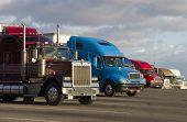 stock photo of truck-stop  - tractor - JPG