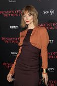 LOS ANGELES - SEP 12: Sienna Guillory at the LA premiere of 'Resident Evil: Retribution' at Regal Ci