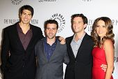 LOS ANGELES - SEP 6:  Brandon Routh, David Krumholtz, Michael Urie, Sophia Bush arrives at the