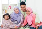 image of southeast asian  - Happy Asian family at home - JPG