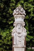 stock photo of naturalist  - Replica sculpture in the Villa Borghese garden in Rome which is a large landscape garden in the naturalistic English manner in Rome containing a number of buildings museums and attractions - JPG