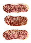 picture of wagyu  - close up of marbled wagyu beef isolated - JPG