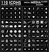 Internet & Media - 110 pictogrammen Set