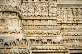 Carvings of the Jagdish Temple in Udaipur, Rajasthan, India