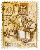 Stamp Printed In The Czechoslovakia Shows Holy Trinity Column And Olomouc Town Hall, Town Square, Ol
