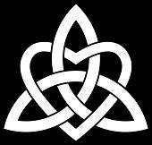 stock photo of triquetra  - Celtic Trinity knot  - JPG