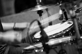 pic of drum-set  - Drum set with focus on hi - JPG