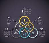 picture of olympic-games  - Sport background infographic banner - JPG