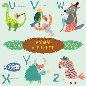 image of letter x  - Cute animal alphabet - JPG