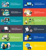 image of creativity  - Icons set banners for creative process - JPG
