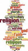 Постер, плакат: Religion Word Cloud