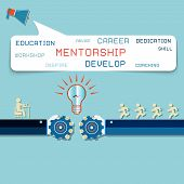 stock photo of mentoring  - Group of Business People Learning With the Help of Their Mentor - JPG