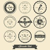 picture of karaoke  - the creative design of Karaoke Vintage Label - JPG