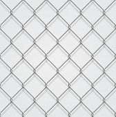 stock photo of chain link fence  - Seamless chain fence background with shadow - JPG
