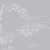 picture of clefs  - treble clef musical signs of paper with reflection on a light background - JPG