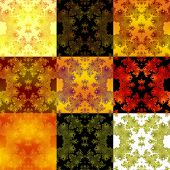 stock photo of compose  - Abstract fractal black orange yellow white tiles composed background - JPG
