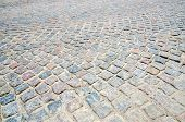 stock photo of paving stone  - Pavement of the gray paving stones background - JPG