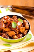 pic of soy sauce  - Chicken breast bits in soy sauce casserole - JPG