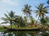 stock photo of alleppey  - View at Alleppey India at sunny day - JPG