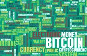 picture of bitcoin  - Bitcoin or Bitcoins as a Crypto Currency Concept background - JPG