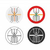 picture of gnats  - Dengue mosquito logo set - JPG