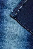 image of denim jeans  - closeup detail of blue denim jeans trouses texture background - JPG