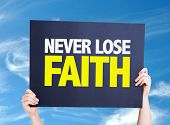 foto of faithfulness  - Never Lose Faith card with sky background - JPG