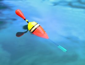 picture of fishing bobber  - Float for fishing on the water - JPG