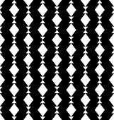 Black And White Geometric Seamless Pattern With Triangle And Trapezoid, Abstract Background. poster
