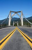 picture of klamath  - Suspension bridge over the Klamath River - JPG