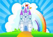 Постер, плакат: Приглашение с Волшебная сказка принцесса замок