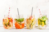 Selection Of Infused Refreshing Waters poster