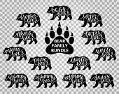 Bear Family Bundle: Mama, Papa, Baby, Brother, Sister, Momma, Daddy, Grampy, Grammy, Uncle, Auntie,  poster