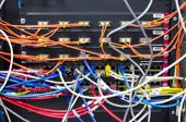Blurred Image Cable Management Inserver Room A Bad Case Of Cable Spaghetti, The Worst Cable Mess, Co poster