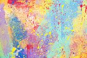 Abstract Watercolor Splatter Color Background, Colorful Paint Drops Ink Splashes Grunge Card Design. poster