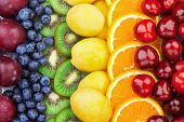 Fresh Fruits.assorted Fruits Colorful Background. Color Range poster