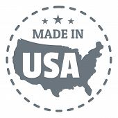 Made In Usa Country Logo. Simple Illustration Of Made In Usa Country Logo For Web Design poster